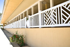 Long Porch Area on Building Stock Images