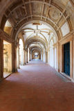 Long portico in the Convent of Christ (Convento de Cristo) in Tomar Royalty Free Stock Image