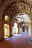 Long portico in the Convent of Christ (Convento de Cristo) in Tomar Stock Image