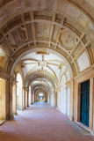 Long portico in the Convent of Christ (Convento de Cristo) in Tomar Royalty Free Stock Photos