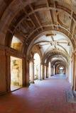 Long portico in the Convent of Christ (Convento de Cristo) in Tomar Stock Image