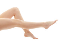 Long pretty woman legs Royalty Free Stock Image