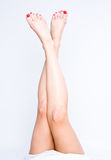 Long pretty woman legs Stock Photo