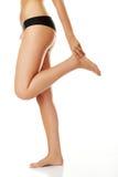 Long pretty woman legs Royalty Free Stock Photos