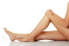 Long pretty woman legs Royalty Free Stock Photo