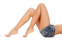 Long pretty woman legs. Royalty Free Stock Image
