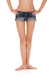 Long pretty woman legs Royalty Free Stock Images