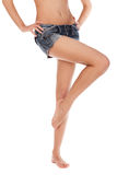 Long pretty woman legs Royalty Free Stock Photos