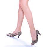 Long pretty woman legs on hills Royalty Free Stock Photo