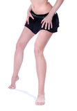 Long pretty woman legs on hills Stock Photos