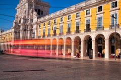 Long projectile d'exposition Le commerce Praca carré font Comercio en Li Image libre de droits