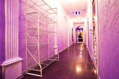 Long purple corridor Royalty Free Stock Images