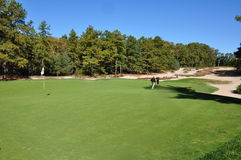 Long putt. The third hole at the famous Pine Valley Golf Club Royalty Free Stock Image