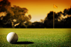 Long Putt Royalty Free Stock Photos