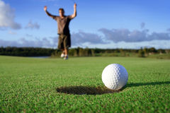 Long putt Photographie stock