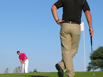 Long putt Stock Photography