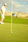 Long Putt. For the love of Golf.  Summer time, spring time any time is a good time for Golf Royalty Free Stock Photos