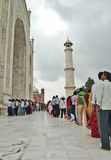 Long que in Taj Mahal Stock Photos