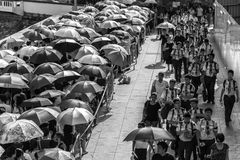 Long queue forming near Padang to join state funeral of Mr. Lee Kuan Yew Royalty Free Stock Photography