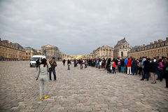 Long Queue, Palace of Versailles Royalty Free Stock Image