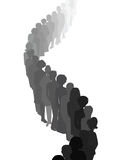 Long queue. People silhouettes Stock Image