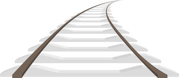 Long rails isolated Royalty Free Stock Photos