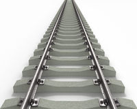 Long Rails Textured Royalty Free Stock Photography