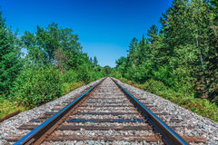 A really long railway Stock Photography