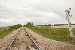 Long railway track Royalty Free Stock Photo