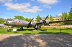 Long-range heavy bomber Tu-4 in the Air Force Museum in Monino. Moscow Region, Russia Royalty Free Stock Image