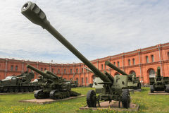 Long-range howitzer of the 1931 model. Stock Image