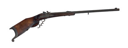 Long-range hunting rifle of 19th century cutout Royalty Free Stock Images