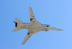 Long-range strategic bomber. Tu-22, long-range strategic bomber over blue sky (Blinder Stock Images