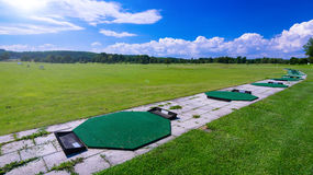 Long range training golf course Royalty Free Stock Photo