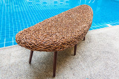 Long rattan chair Stock Photography