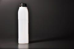Long rectangle empty white bottle with grey background Royalty Free Stock Image