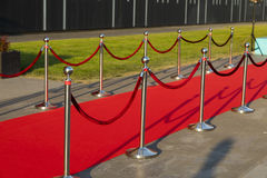 Long red carpet Stock Photography