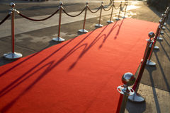 Long red carpet Royalty Free Stock Images