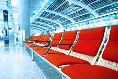 Long red chair Royalty Free Stock Photos