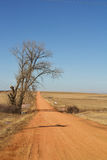 Long red dirt road Royalty Free Stock Images