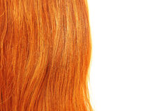 Long red hair. Isolated on white Stock Photo