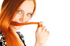 Long red hair Royalty Free Stock Image