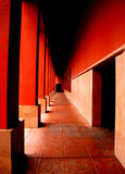 A long red hallway Royalty Free Stock Photo