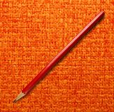 Long red pencil Royalty Free Stock Photography
