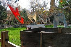 Old fashioned laundry  on a clothes line Royalty Free Stock Image