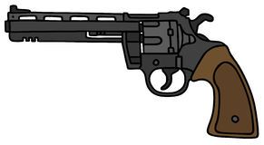 Long revolver. Blig long revolver, vector illustration, hand drawing Stock Illustration