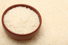 Long rice in bowl Royalty Free Stock Images