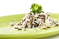 Long rice mixed with wild rice Royalty Free Stock Images