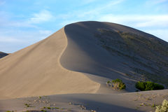 Long ridge in a sand dune. Royalty Free Stock Image