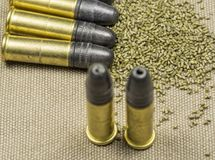 Long rifle Rimfire Ammunition Royalty Free Stock Photo